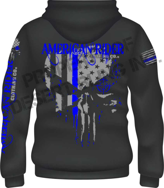 American Rider Thin Blue Line Hoodie